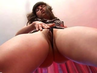 19yo brings herself to a wild orgasm in closeup 8