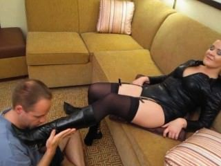 Whitney Teases Submissives Slut Totally Crazy W/ Her Feet