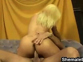 Sexy Blonde Shemale With Big Tits