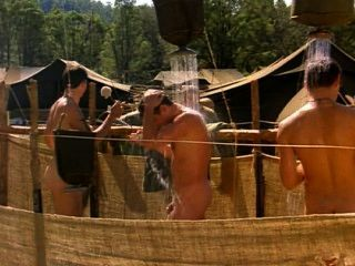 Bryan Brown Nude In Outdoor Shower With Others