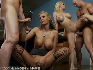 Diamond Foxxx And Phoenix Marie Get Fucked In The Ass By Two Big Dicks