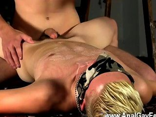 Gay Clip Of Splashed With Wax And Cum