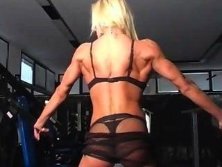 Perfect Feminine Cute Muscle Blonde