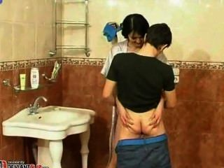 Mother And Son Exclusive Bathroom Porn
