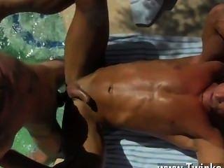 Gay Guys Daddy Poolside Prick Loving