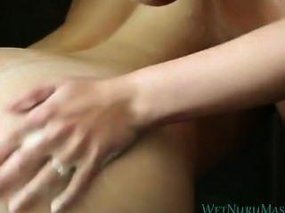 Ash Hollywood & Brooklyn Chase Lesbian Nuru Massage