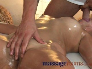 Massage Rooms Petite Brunette Gets Her Tight Hole Fucked By Younger Stud