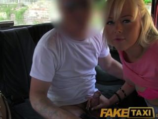 Faketaxi Pretty Blonde British Babe Gets Drivers Cum On Her Bald Pussy