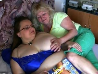 Old Granny Teaches Old Mature In Bed