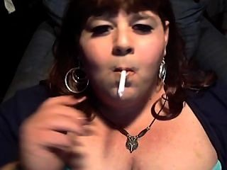 Bbw Sissy Dianel Cleavage Smoke Mmmm