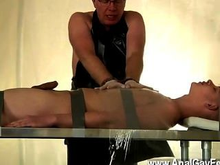 Gay Guys Twink Alex Has Been A Very Bad Slave, Stealing The Jism From
