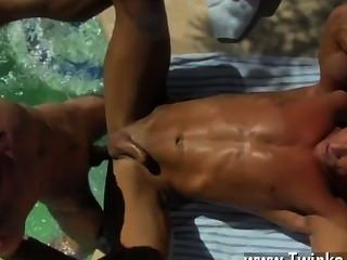 Twink Video With The Men Jizz Dripping Down His Tanned Back, Daddy Alex