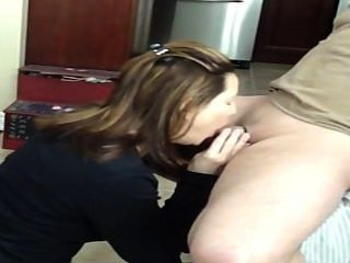 Homemade Blowjob In The Kitchen