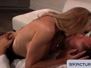 Brandi Love Sucking And Riding A Cock Big Fake Tits Bouncing