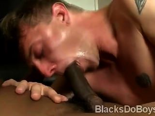 White Gay Sucks A Black Dick