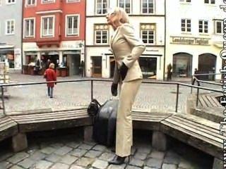 Leather Pants Suit