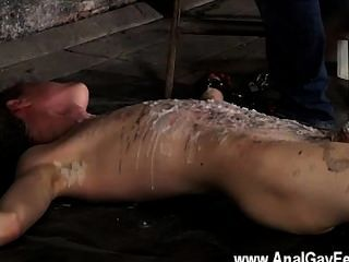 Hot Twink Scene Chained To The Warehouse Floor And Incapable To Escape