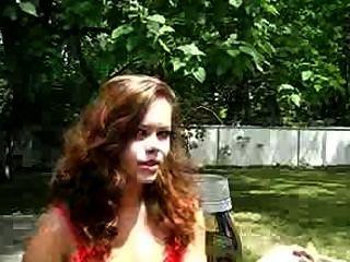 Amateur Girl Allison Smoking Vs 120 Outside