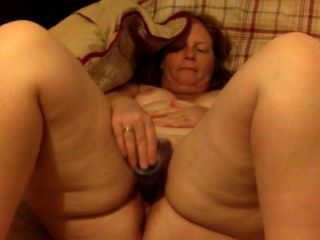 Large Ass Red Head Wife Milf Masturbates With Dildo