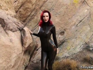 Emily Marilyn Fetish Model Latex Catsuit
