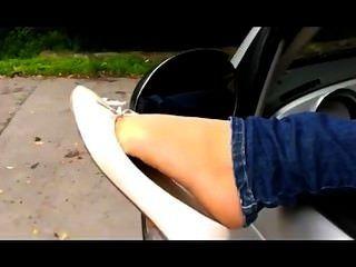 Nice Feet In Balerinas!!!