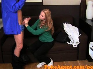 Fakeagent Innocent Blonde With Sweet Eyes Tricked Into Taking A Facial