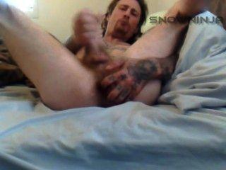 Redneck amateur twink cums on cam