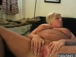 Blonde British Housewife Fingering At Home