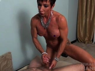 Female muscle handjob pity, that