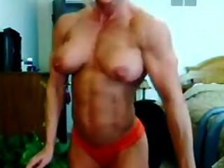 Muscular Milf Insame Pec Boucing