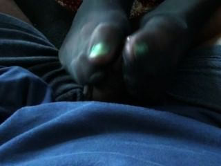 Rhiannon Hill Ignoring Me While Giving A Footjob