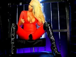 Lucy Summers Red Catsuit S66