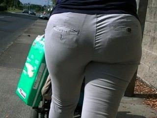 Candid european milf booty walking