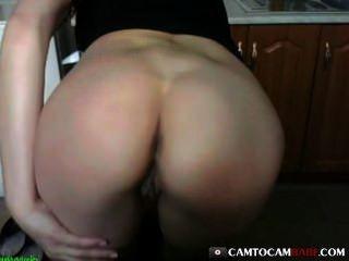 Big Butt Girl Fucks Webcam Toy