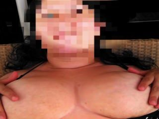 Wife Massaging Her Tits