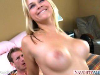 Busty Blonde Sarah Vandella Fucking