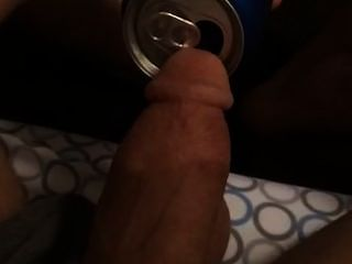 Peeing Into A Pepsi Can