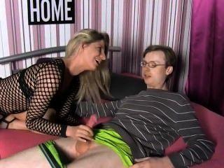 German Babe Fucks Inexperienced Guy