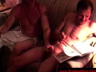 Mature Redneck Bears Jerking Each Other