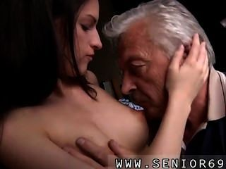 Horny Senior Bruce Catches Sight Of A Nice Chick Sitting Behind A Sewing