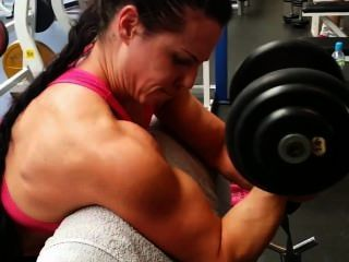 Muscle Girls Training In Gym
