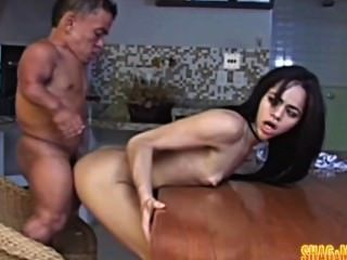 The shortest gigolo sure brings a long cock to his house cal 3