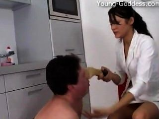 Young-goddess.com - Goddess Anna Gold Dominates His Slave