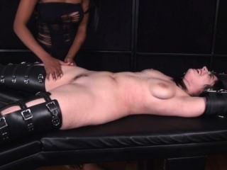Dark Haired Babe Restrained And Tickled