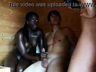 Interracial Threesome - Wh.girl Wh. Guy, Bl. Girl
