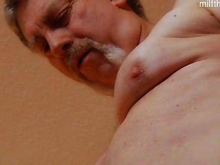 Busty Wife Gagging Deepthroat