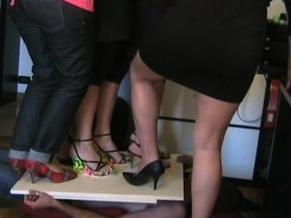 Italian Women Trampling In High Heels