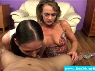 Cock Loving Milf And Teen Deepthroating