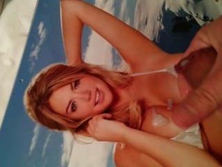 Cum Tribute To Kate Upton 2014 Calendar Bikini Pic