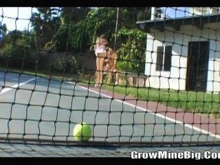 Playing Teenis Ball Before Fucking